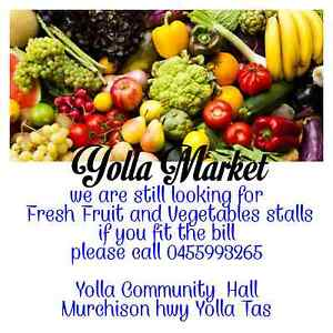 30th July next Yolla Market Wynyard Waratah Area Preview