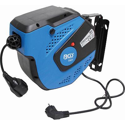 Carrete Enrollador Cable Electrico Extension 15 Metros - Bgs 3321