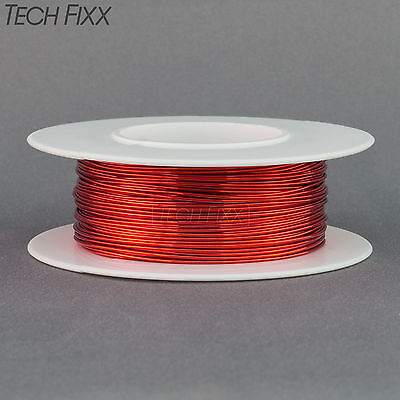 Magnet Wire 22 Gauge Awg Enameled Copper 63 Feet Coil Winding And Crafts Red