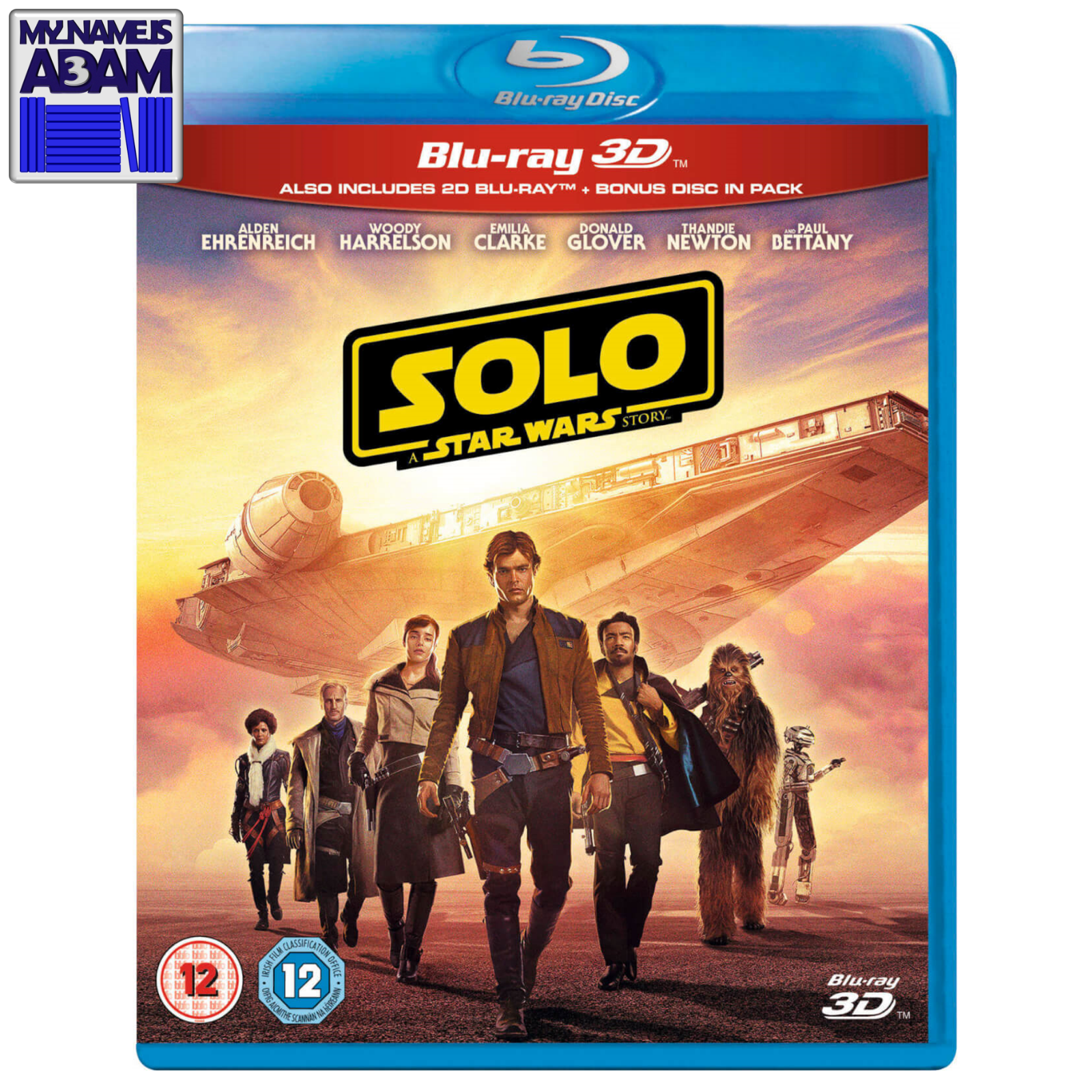 SOLO: A STAR WARS STORY Blu-ray 3D + 2D + Bonus (REGION FREE) LIMITED SALE