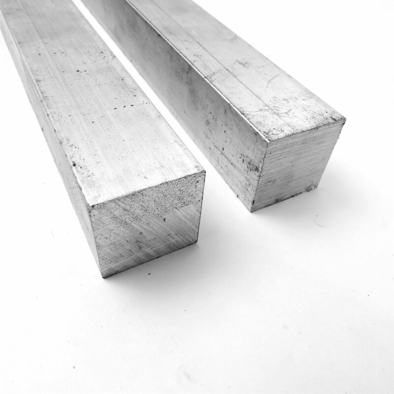 "1.625"" x 1.625"" Aluminum  6061 SQ Solid  FLAT BAR 19.875"" Long  QTY 2 sku A538*"