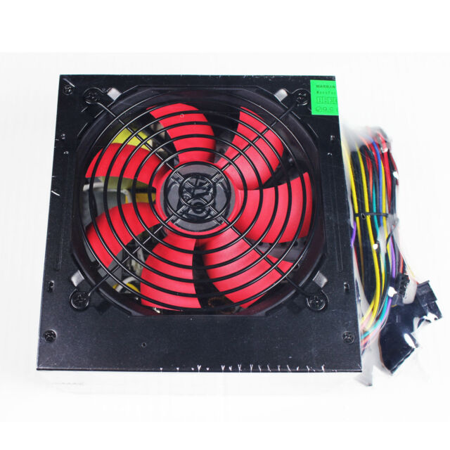 ACE Super Silent 500W 12v ATX Power Supply Unit (PSU) With 120mm Red Fan