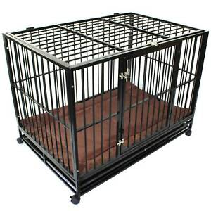 Super Heavy Duty XL Pet Crate Cage Extra Large Puppy Dog Kennel PetJoi