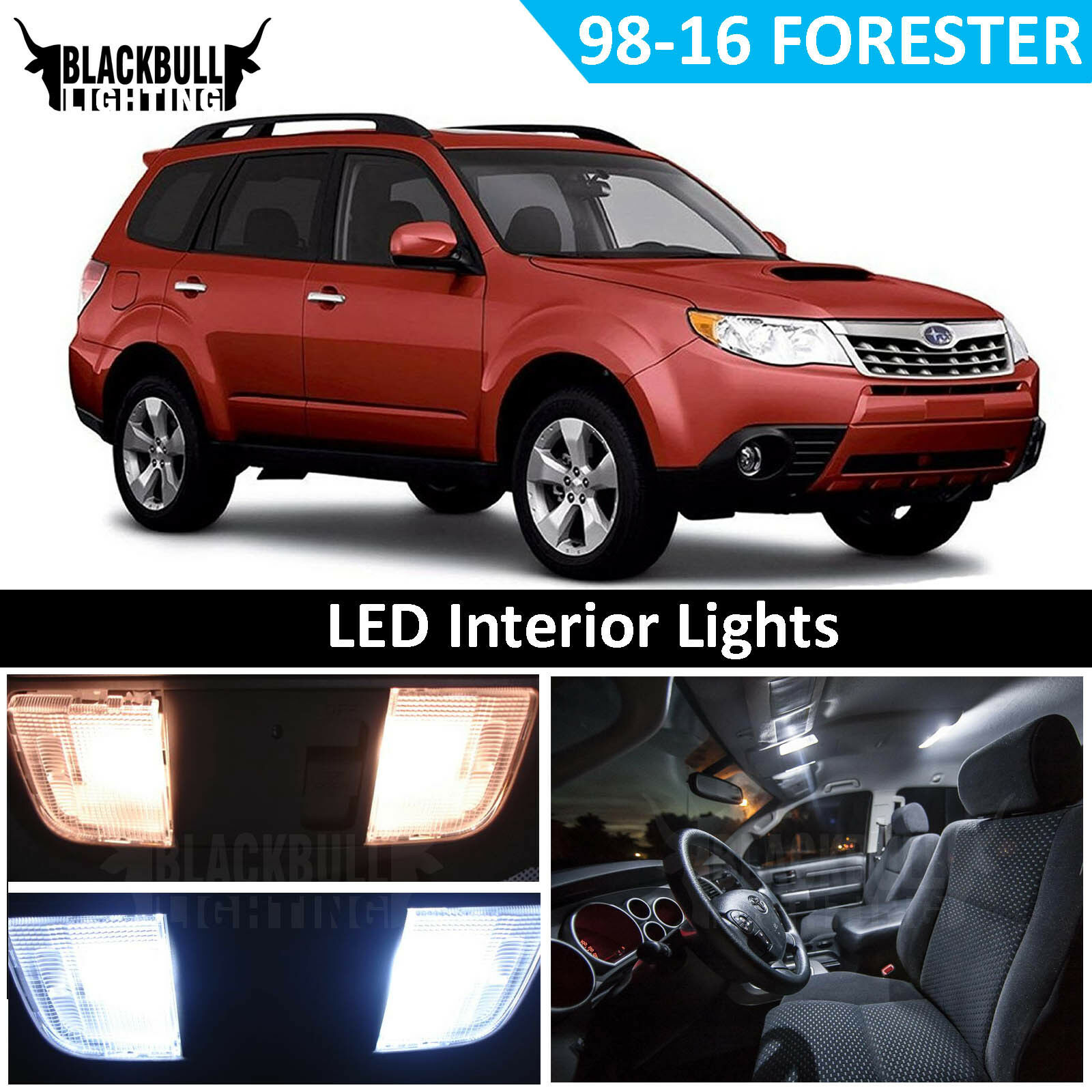 Details About White Led Interior Light Replacement Kit For 1998 2016 Subaru Forester 7 Bulbs