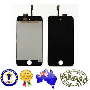 for iPod Touch 4th Gen - Replacement Glass Touch Screen Digitizer with LCD BLACK