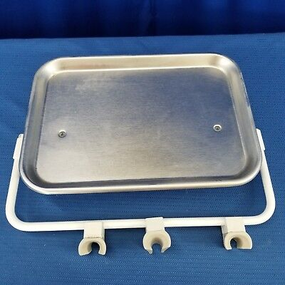 Dental Stainless Steel Utility Accessory Tray With 3 Instrument Holder Bar