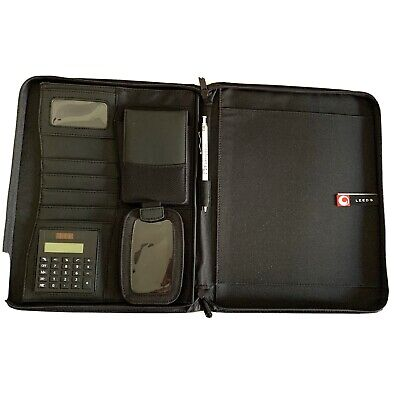 Enterprise Community Partners Leeds Zippered Portfolio Notebook Binder Black
