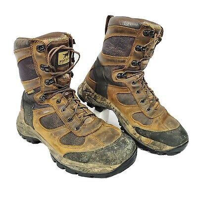 Irish Setter Insulated Hunting Boots Men's Size 9.5 D Camo Hiking Red Wing