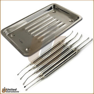 Implant Sinus Lift Periosteal Elevators Periodontal Tunneling Curette Cassette