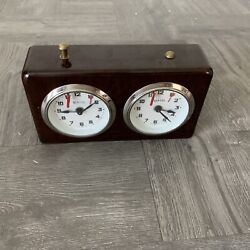 Vintage Chess Clock Made in Germany BHB wind up timer works Great Look Solid