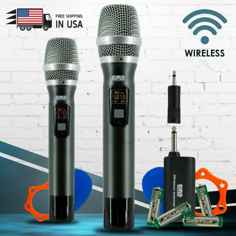 EMB M42W UHF Wireless Handheld Microphone System with Rechargeable Receiver NEW