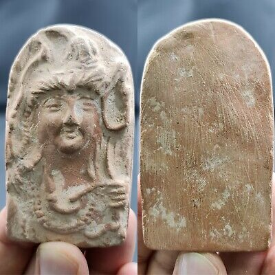 Greco-Roman queen wonderful terracotta pottery relief piece # 163