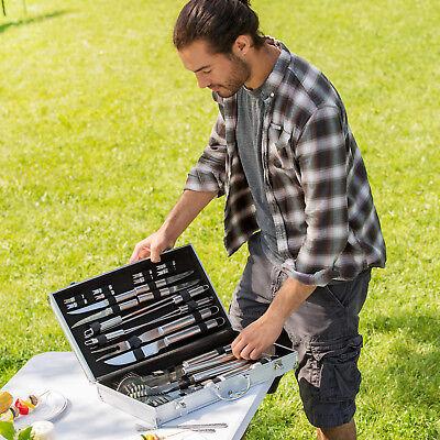 Coffret barbecue 25 pièces set cuisine BBQ en acier inoxydable+mallette 1