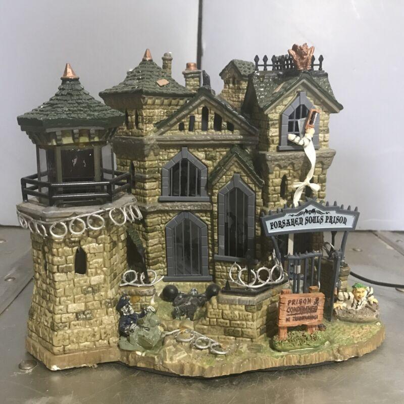 Lemax 75417 Spooky Town Forsaken Souls Prison  Halloween Village Lights