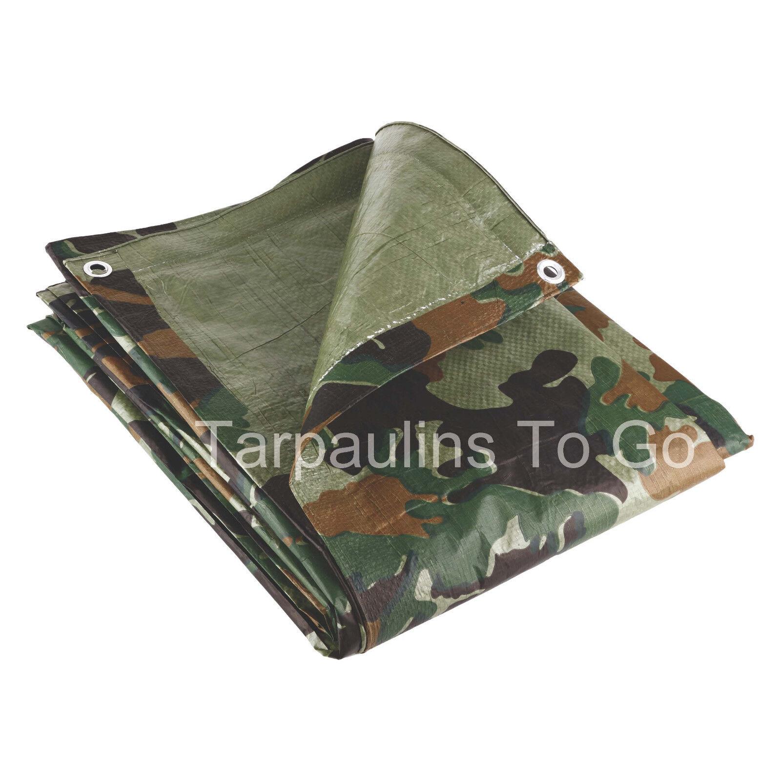 Waterproof Tarpaulin Ground Sheet Lightweight Camping Cover Tarp with Eyelets - 4