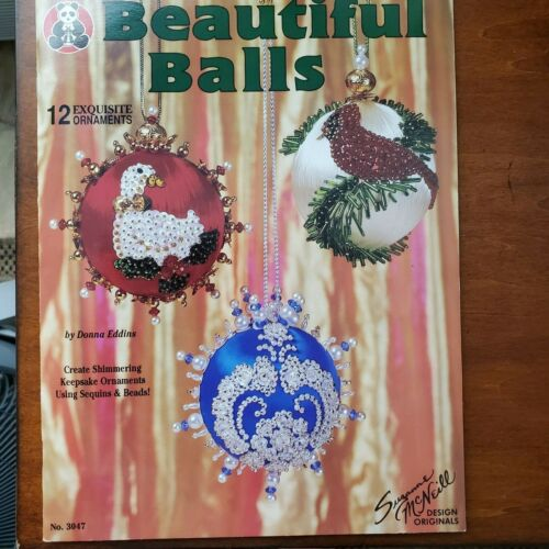 Beautiful Balls Christmas Ornaments satin ball Sequins beads pins Pattern BOOK