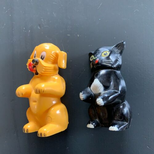 Ken L Ration Dog  and Cat Salt and Pepper Shakers