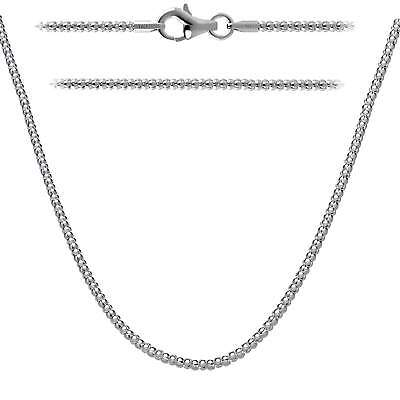 2mm Popcorn Chain Italian Necklace 925 Sterling Silver with Lobster (Italian Popcorn Chain)