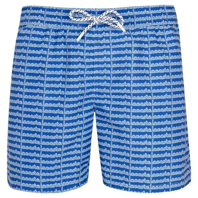 e09839062fa5f Details about LACOSTE Letter Print Men's Swim Shorts Blue & Navy S-XL RRP  £59 SALE SALE !!