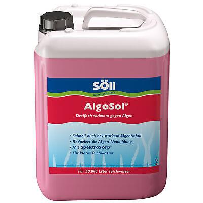 Söll Algosol, 2,5 L For 50.000 L, Triple Effective Against Algae IN Pond