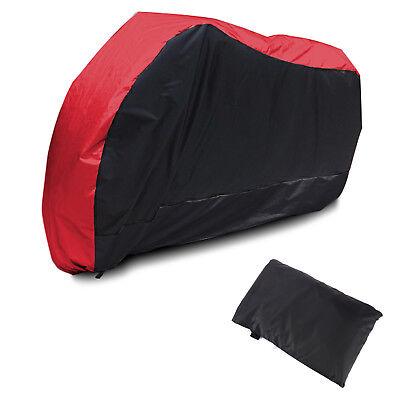 Waterproof Motorbike Cover Motorcycle Breathable Vented Red+Black RAIN LARGE UK
