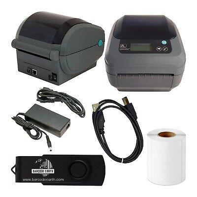 Zebra GX420d Desktop Direct Thermal Label Printer with Ethernet & USB