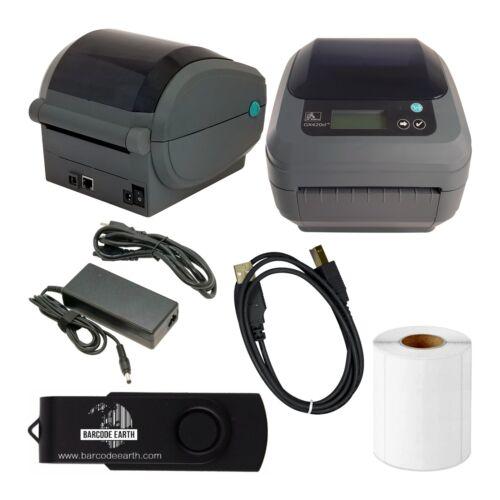 Zebra GX420d Desktop Direct Thermal Label Printer with Ethernet & USB w/ Tech!