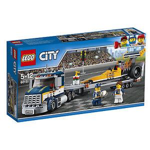lego city dragster transporter 60151 g nstig kaufen ebay. Black Bedroom Furniture Sets. Home Design Ideas