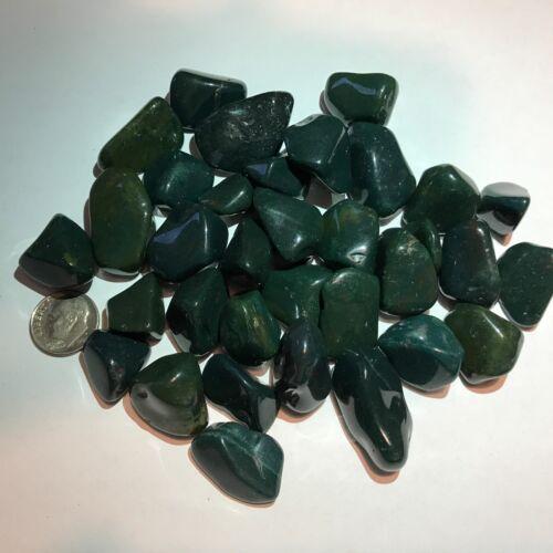 Bloodstone - Tumbled and Highly Polished - 1/4 Pound Lots ~ (15 - 17) Gemstones