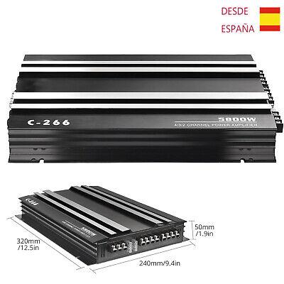 Amplificador de Audio Estéreo Potencia Coche 5800W 4 Canal Subwoofer 4 Ohm...