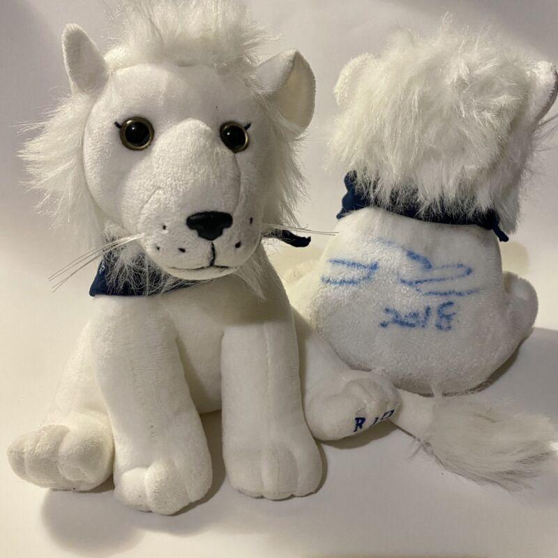 Rio the White Lion Plush Set Anthony Reed Magician AUTOGRAPHED Encore! Guam USA