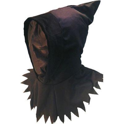 See Through Mask Halloween (Black Ghoul Hood See Through Mask Halloween Mens Ladies Fancy Dress)