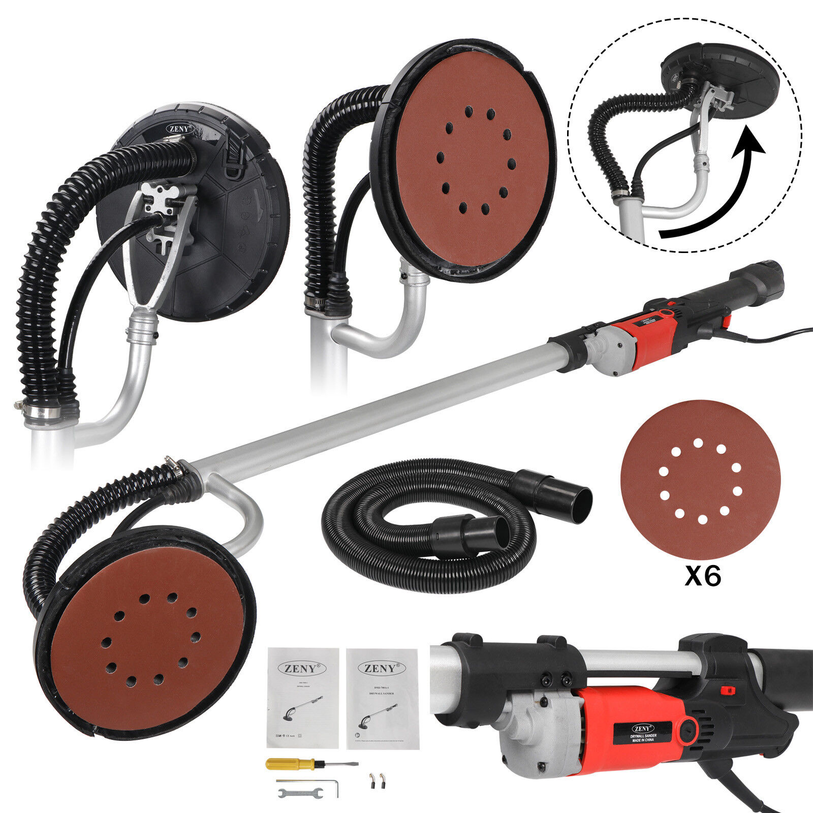 Large Power Drywall Sander 800W Commercial Electric Variable Speed Sanding Pad Business & Industrial