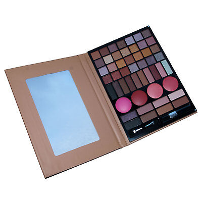 Make Up Gift Set Eyeshadow Blusher Palette Second Glance 52 Pc Nudes...