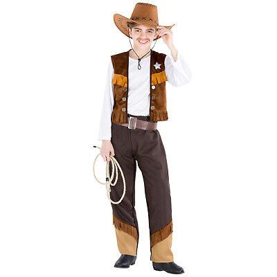 Jungenkostüm Cowboy Sheriff Western Wilder Westen Fasching Karneval Indianer
