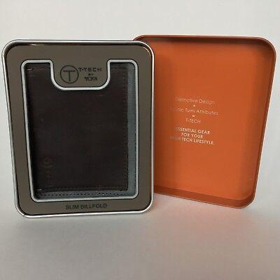 Tumi Slim Wallet (TUMI Men's Slim Billfold Wallet T-Tech Fuse Card Holder Brown Leather NIB)