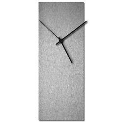 Mid-Century Modern Clock Minimalist Wall Decor Contemporary Silver Accent