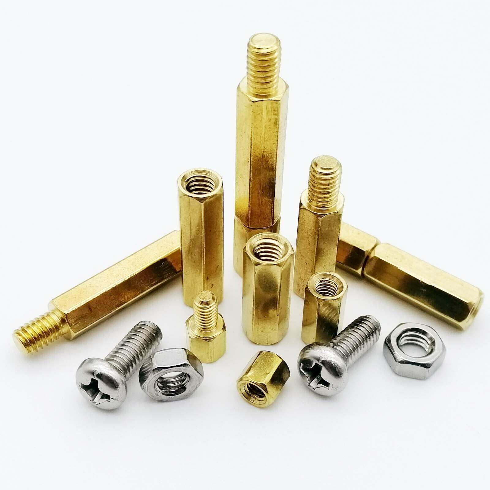 6mm M3 Brass Threaded Hex Male-Female Standoff Spacer Pillar 10pcs 45mm