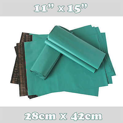 10 Strong Green Plastic Mailing Postal Poly Postage Packing Bags 11 x 15 28x38cm