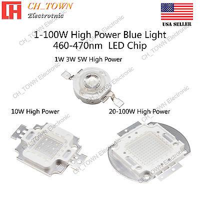 1w 3w 5w 10w 20w 30w 50w 100w Blue 460-470nm High Power Led Chip Cob Lamp Beads