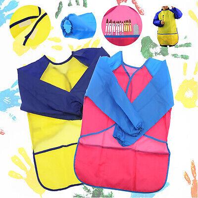 1x/2x Kid Girl Boy Children Simple Bib School Apron Art Paint Smock Shirt S/M ()