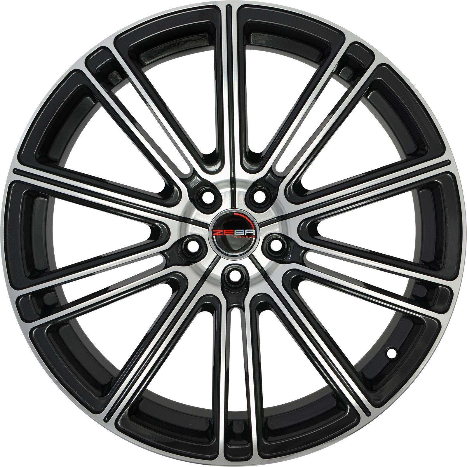4 GWG Wheels 22 inch Black Machined FLOW Rims fits INFINITI QX70 2014 - 2018