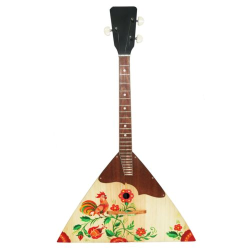 New Russian / Ukrainian Balalaika 3 Strings, Prima, Folk Hand Painted! Wood!
