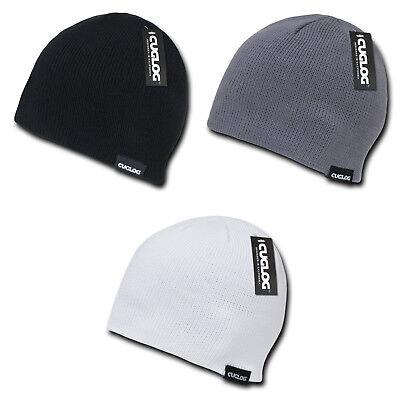 Cuglog Lhotse Ribbed Knit Beanies Snowboard Ski Skull Hat Cap Warm Winter Unisex Rib Knit Hat
