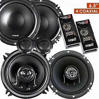 """2x Cerwin Vega XED62 6.5"""" 600W Speakers + 2x XED650C 300W 6."""