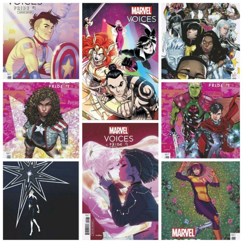 Marvel Voices Pride #1 Cover A B C D E F G H Variant Set Options Presale 6/23
