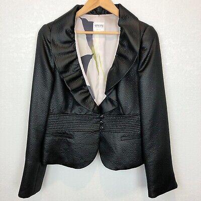 Armani Collezioni Ruffle Front Textured Blazer Size 12 ***Read***