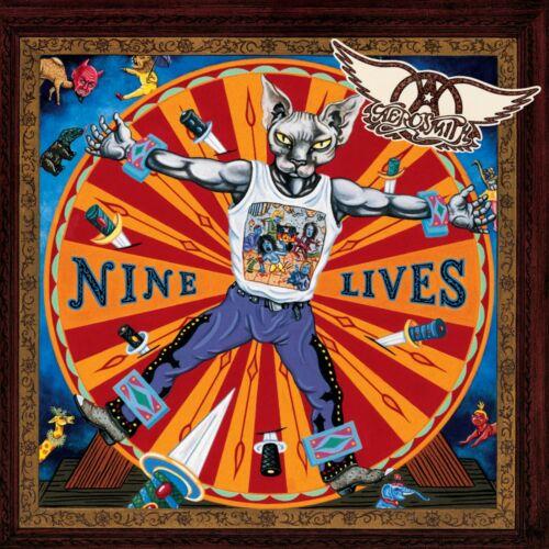 AEROSMITH Nine Lives BANNER HUGE 4X4 Ft Fabric Poster Tapestry Flag album cover