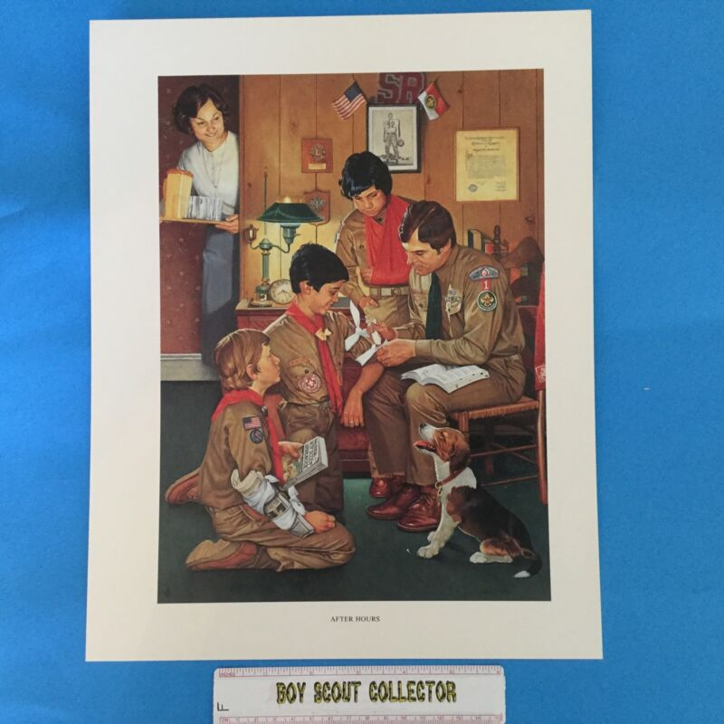 "Boy Scout Joseph Csatari Print 11""x14"" After Hours"