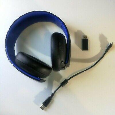PS4 Sony PlayStation Gold CECHYA-0083 Black Wireless Stereo Headset Multi-System